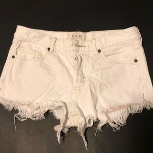 White free people shorts